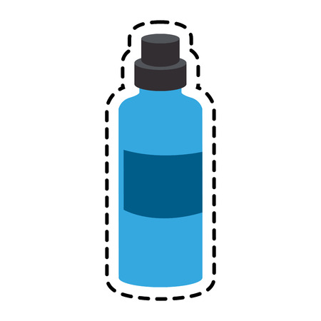 purify: bottle of water icon over white background. colorful design. vector illustration