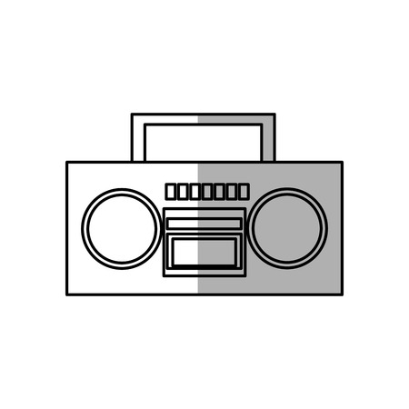 boombox: boombox stereo icon over white background. vector illustration