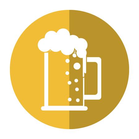 beer foam: saint patrick day mug of beer foam bubbles cold shadow vector illustration