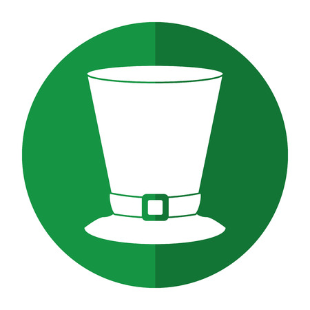 top hat saint patrick day symbol shadow vector Illustration