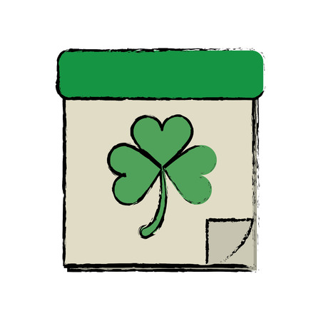 irish culture: cartoon calendar clover st patrick day irish culture