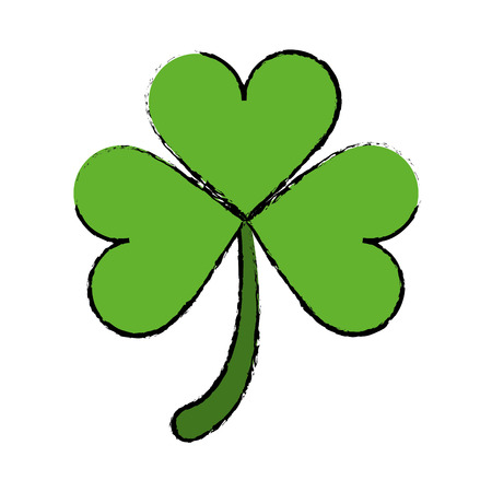cartoon clover leafs saint patrick day ornament vector illustration Illustration