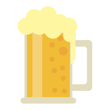 alehouse: saint patrick day mug of beer foam bubbles cold vector illustration Illustration