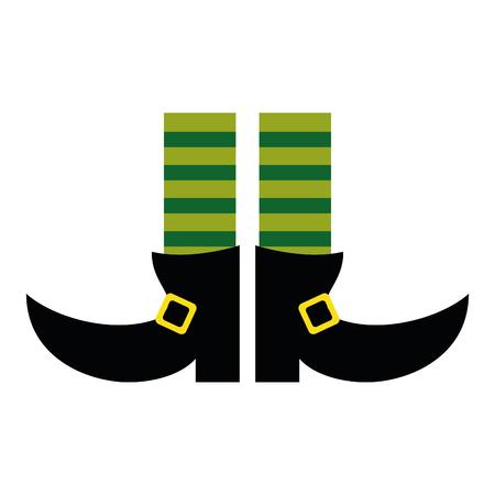 leprachaun: legs boot leprachaun socks stripes st patrick day vector illustration