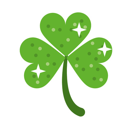 patric day: clover leafs saint patrick day ornament shiny vector illustration