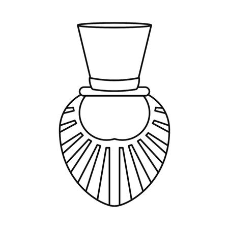 st patrick day leprechaun beard outline vector illustration Illustration