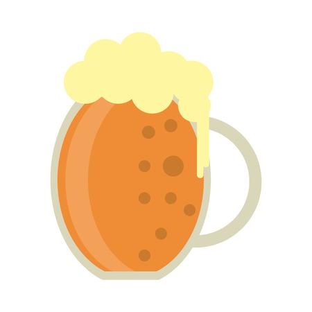beer foam: st patrick day jar beer foam cold vector illustration