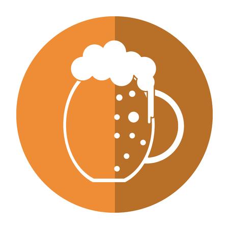 beer foam: st patrick day jar beer foam cold shadow vector illustration