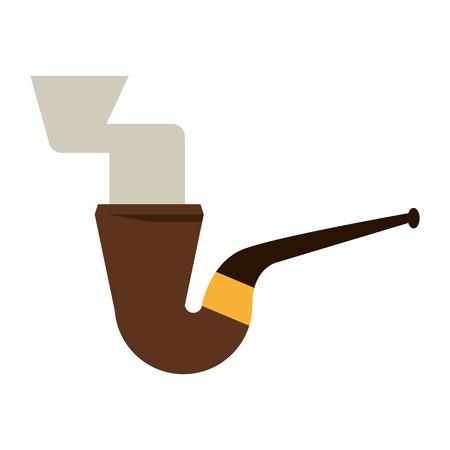 leprachaun: st patrick day tobacco pipe leprachaun smoke icon vector illustration Illustration