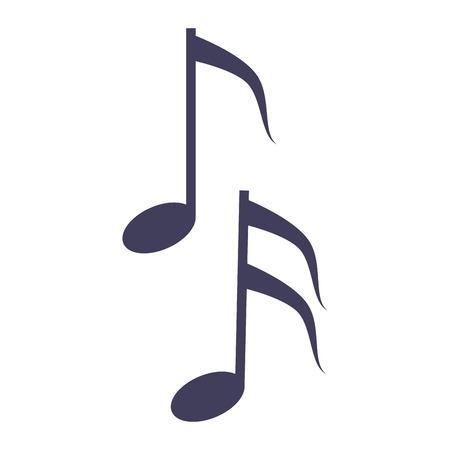 quaver: musical note melody symbol vector illustration