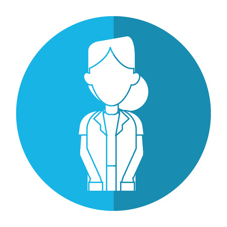 woman shadow: doctor woman medicine science help shadow vector illustration