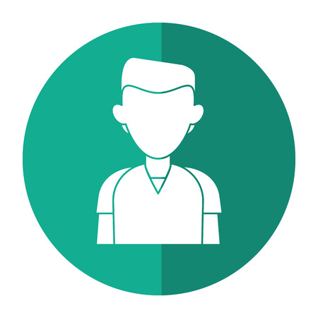 man staff hospital practice healthy with shadow vector illustration