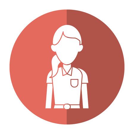 woman shadow: woman paramedic worker hospital emergency with shadow vector illustration Illustration