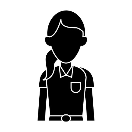 paramedic: silhouette woman paramedic worker hospital emergency vector illustration
