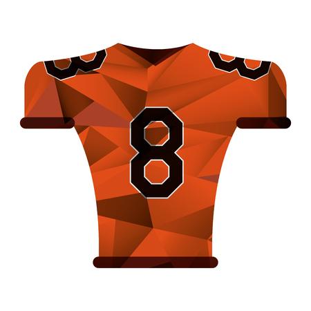 american football jersey uniform tshirt abstract geometric vector illustration Illustration