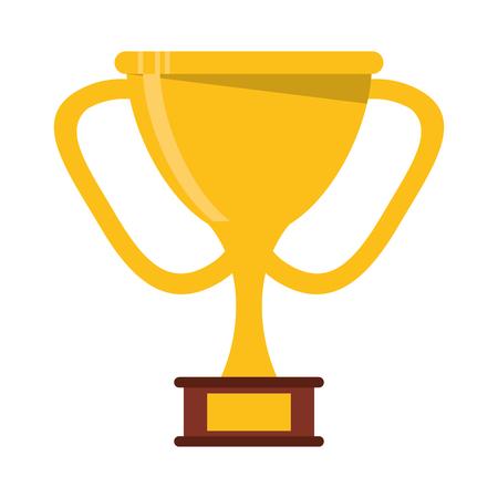 golden trophy award sport win sport vector illustration Illustration