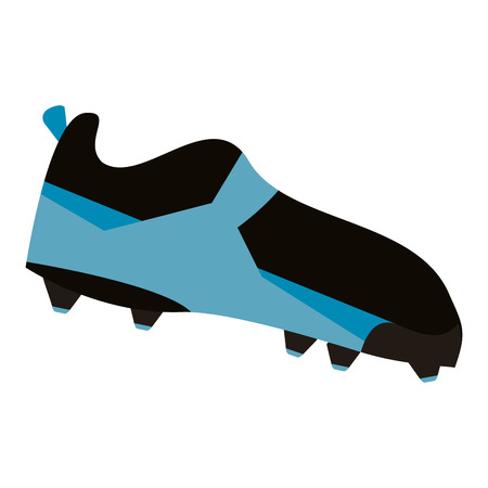 american football boot shoe spiked vector illustration