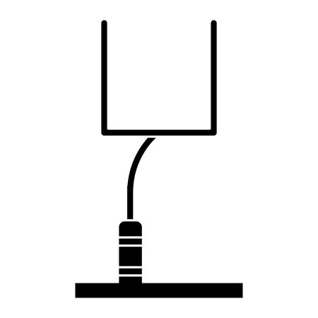 football goal post: silhouette american football goal post vector illustration