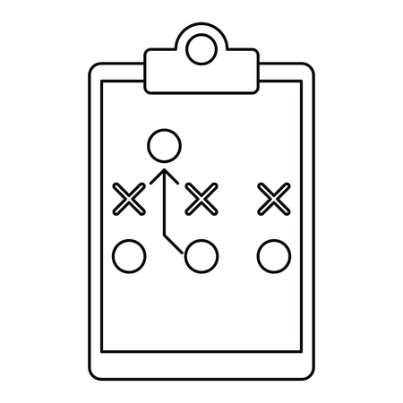 tactical: board tactical diagram american football outline vector illustration eps 10