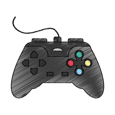 obsession: videogame control icon over white background. vector illustration