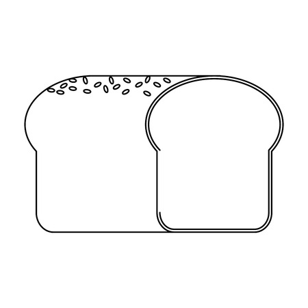 bread icon over white background. bakery products concept. vector illustration Illustration