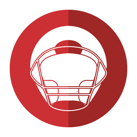 helmet american football front view shadow vector illustration eps 10