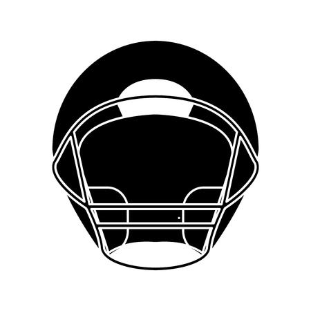 quarterback: silhouette helmet american football front view vector illustration eps 10 Illustration
