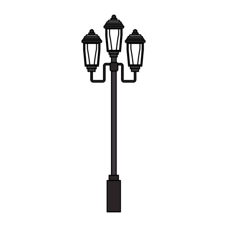 downtown district: street lamp icon over white background. vector illustration Illustration