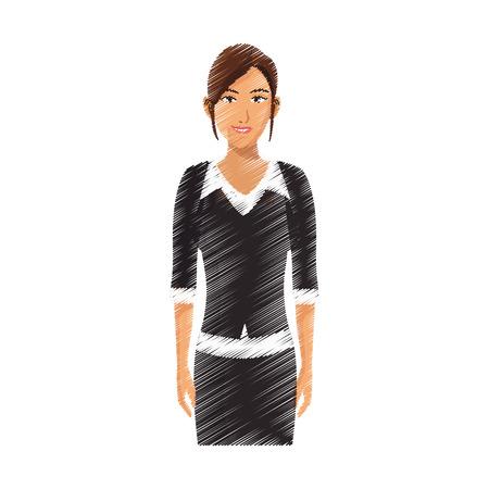 business leader: businesswoman cartoon icon over white background. colorful design. vector illustration Illustration