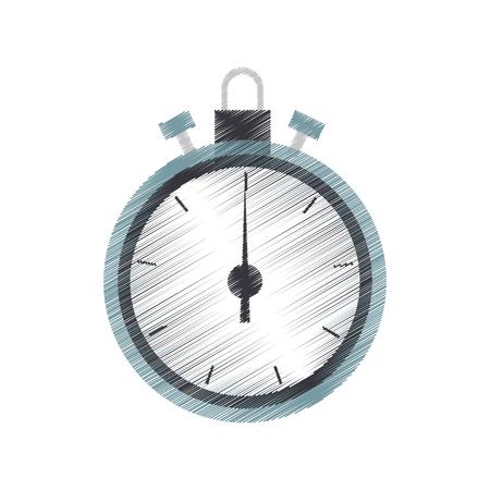 chronometer device icon over white background. colorful design. vector illustration