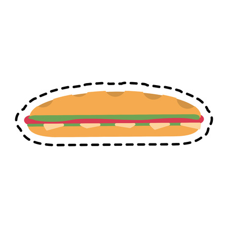 sandwich icon over white background. fast food concept. colorful design. vector illustration Illustration