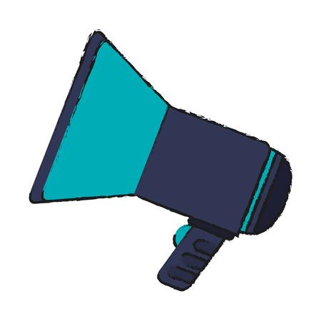 megaphone icon over white background. colorful design. vector illustration Illustration