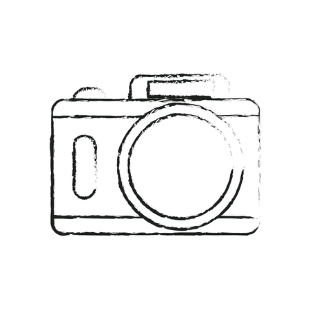 digicam: photographic camera icon over white background. vector illustration