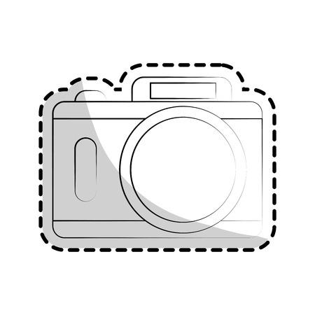 digicam: camera icon over white background. vector illustration