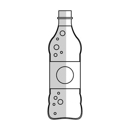 soft drink bottle icon over white background. vector illustration Illustration