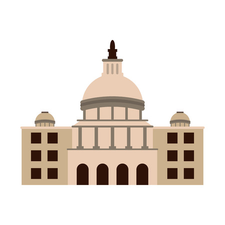 city building icon over white background. colorful design. vector illustration