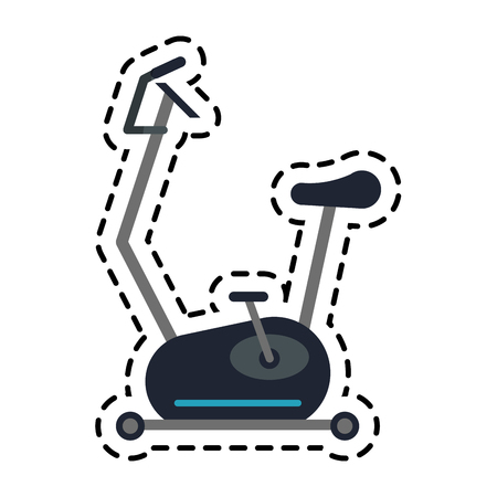 spinning bike icon over white background. colorful design. vector illustration