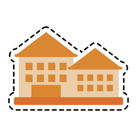 residential neighborhood: house icon over white background. colorful design. vector illustration Illustration