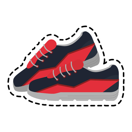 sport shoes icon over white background. vector illustration