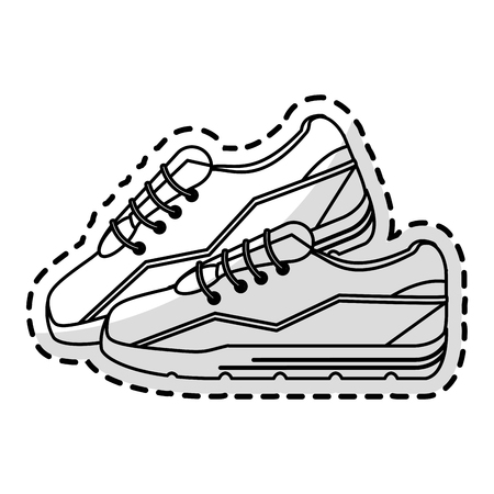 sport shoe icon over white background. vector illustration
