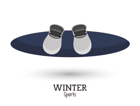 snowboard: blue snowboard winter sport vector illustration Illustration