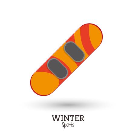 winter sport snowboard equipment vector illustration