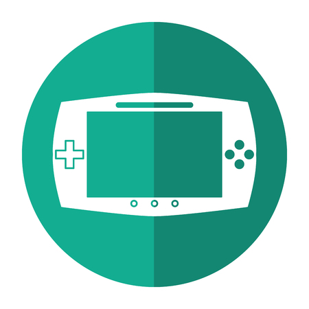 handheld device: game console portable play device shadow vector illustration eps 10