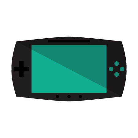 handheld device: game console portable play device vector illustration eps 10