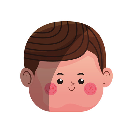 boy icon over white background. colorful design. vector illustration
