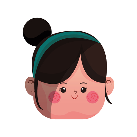girl  icon over white background. colorful design. vector illustration Illustration