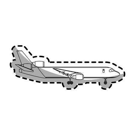 airplane icon over white background. vector illustration Illustration