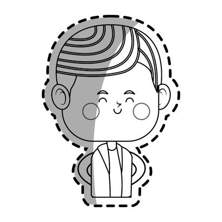 man icon over white background. vector illustration