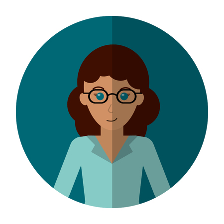 woman shadow: woman with shadow professional work office shadow vector illustration eps 10