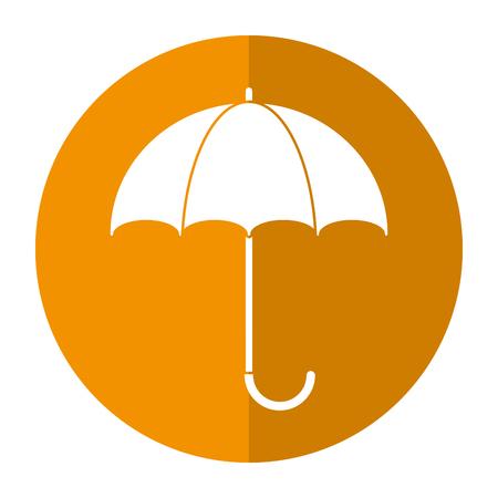 umbrella accessory protect handle shadow vector illustration
